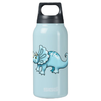 Adorable Blue Dinosaur Insulated Water Bottle