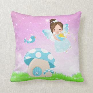 Adorable blue fairy pillow