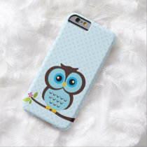 Adorable Blue Owl Illustration Barely There iPhone 6 Case