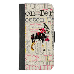 iPhone 8/7 Plus Wallet Case with Boston Terrier Phone Cases design