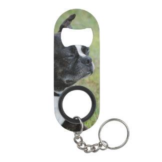 Adorable Boston Terrier Keychain Bottle Opener