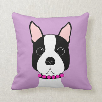 Adorable Boston Terrier Throw Pillow