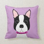 Adorable Boston Terrier Throw Pillow