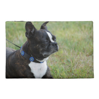 Adorable Boston Terrier Travel Accessories Bags