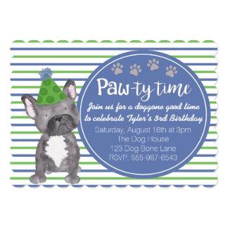 Adorable Boy's Dog Puppy Birthday Invitation