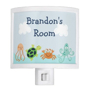"""Toddler & Baby themed Adorable """"Bubbles Sealife"""" Night Light"""