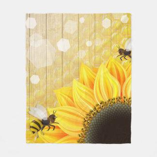 Adorable Bumble Bee Fleece Blanket