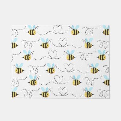 Honeybee Honeycomb Bee Bumblebee Crown Custom Doormat Zazzle