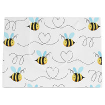 Adorable Bumble Bee Pattern Large Gift Bag