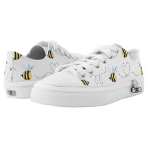 Adorable Bumble Bee Pattern Low-Top Sneakers