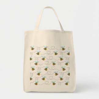 Adorable Bumble Bee Pattern Tote Bag