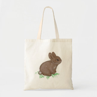Adorable Bunny in Clover Budget Tote Bag