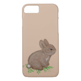 Adorable Bunny in Clover iPhone 7 Case
