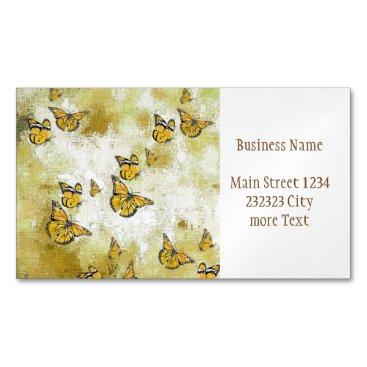 Adorable Butterflies, yellow Business Card Magnet