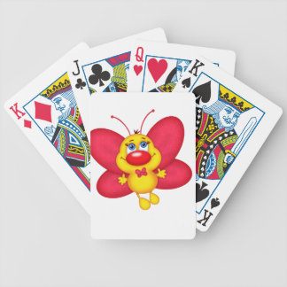 adorable butterfly bicycle playing cards