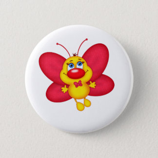 adorable butterfly pinback button