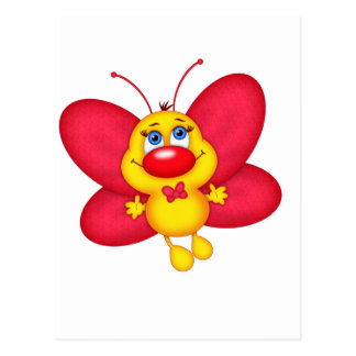adorable butterfly postcard