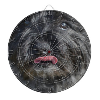 Adorable Cairn Terrier Dartboard With Darts