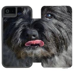Incipio Watson™ iPhone 5/5s Wallet Case with Cairn Terrier Phone Cases design