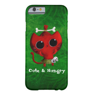 Adorable Cannibal Halloween Cat Barely There iPhone 6 Case
