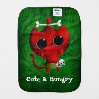 Adorable Cannibal Halloween Cat Burp Cloth