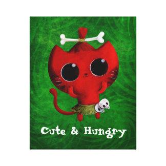 Adorable Cannibal Halloween Cat Canvas Print