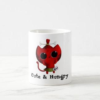 Adorable Cannibal Halloween Cat Coffee Mug