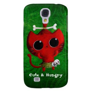 Adorable Cannibal Halloween Cat Galaxy S4 Case