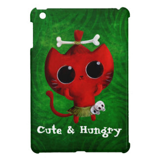 Adorable Cannibal Halloween Cat iPad Mini Covers