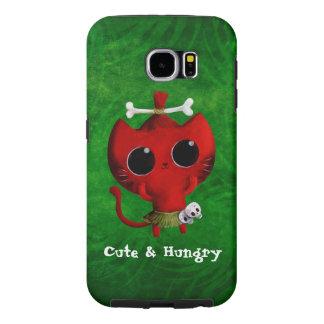 Adorable Cannibal Halloween Cat Samsung Galaxy S6 Case