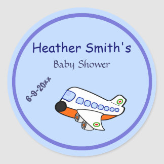 Adorable Cartoon Airplane for Mommy To Be Sticker