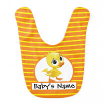 Adorable Cartoon Baby Duckling | Colorful Farm Baby Bib