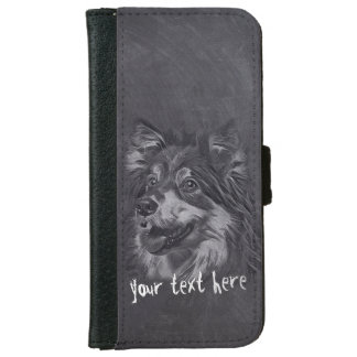 Adorable Cartoon Dog Pet Care Grooming Sitting Wallet Phone Case For iPhone 6/6s