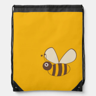 Adorable Cartoon Honey Bee Drawstring Backpack