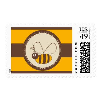 Adorable Cartoon Honey Bee Postage