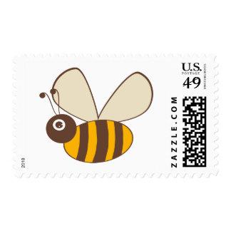 Adorable Cartoon Honey Bee Postage Stamp