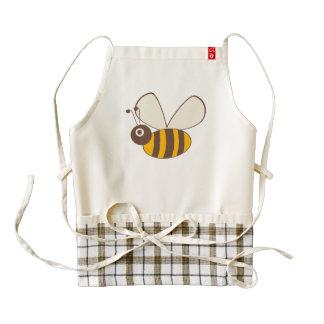 Adorable Cartoon Honey Bee Zazzle HEART Apron