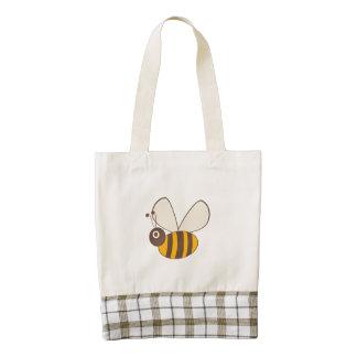 Adorable Cartoon Honey Bee Zazzle HEART Tote Bag