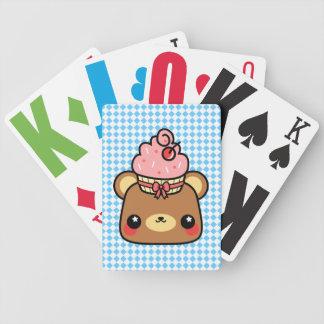 Adorable Cartoon Kawaii Bear Cupcake Cards Poker Deck