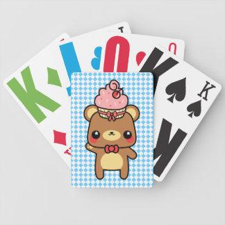 Adorable Cartoon Kawaii Bear Cupcake Cards Deck Of Cards
