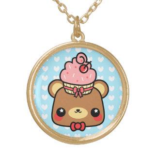 Adorable Cartoon Kawaii Bear Cupcake Necklace