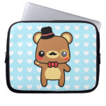 Adorable Cartoon Kawaii Bear Mustache Laptop Bag Computer Sleeve