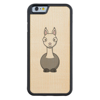 Adorable Cartoon Llama Carved® Maple iPhone 6 Bumper Case