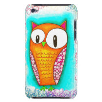 Adorable Cartoon Owl Barely There iPod Case