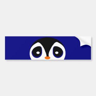 Adorable Cartoon Peeking Penguin Car Bumper Sticker