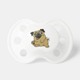 Adorable Cartoon Pug Pacifier