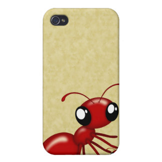 Adorable Cartoon Red Ants 4  iPhone 4 Cover