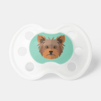 Adorable Cartoon Yorkshire Terrier, Yorkie Pacifier