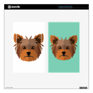 Adorable Cartoon Yorkshire Terrier, Yorkie Skins For Kindle Fire