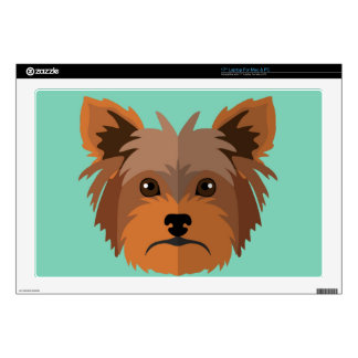 Adorable Cartoon Yorkshire Terrier, Yorkie Skins For Laptops